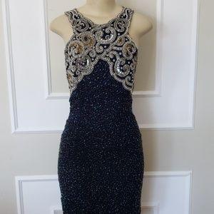 Vintage silk beaded Lawrence kazar dress